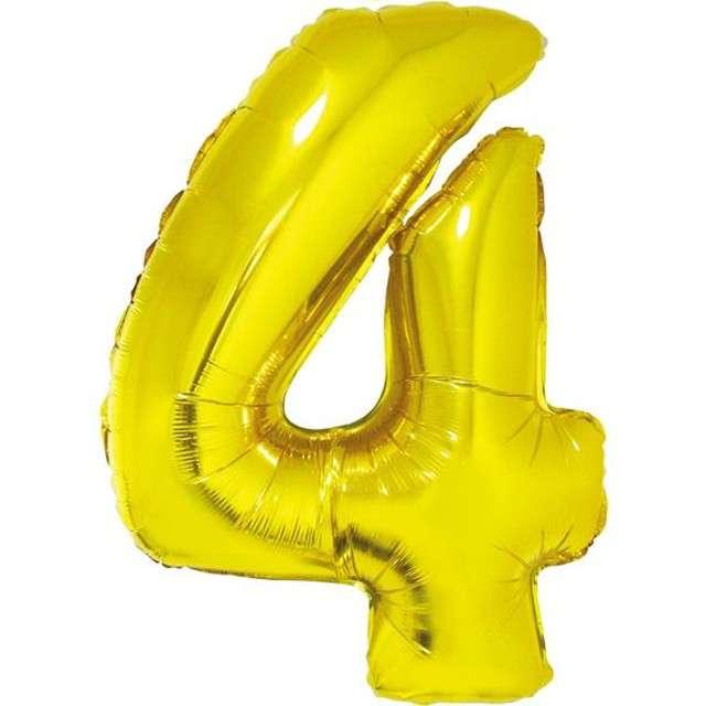 """Balon foliowy cyfra 4, 14"""", GoDan, złota"""