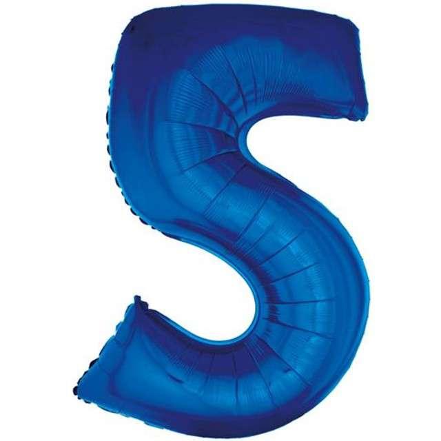 """Balon foliowy cyfra 5, 34"""", GoDan, niebieska"""