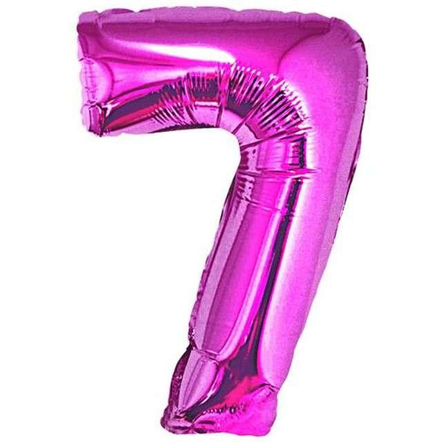 """Balon foliowy cyfra 7, 34"""", GoDan, różowa"""