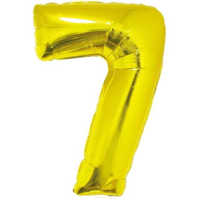 """Balon foliowy cyfra 7, 14"""", GoDan, złota"""