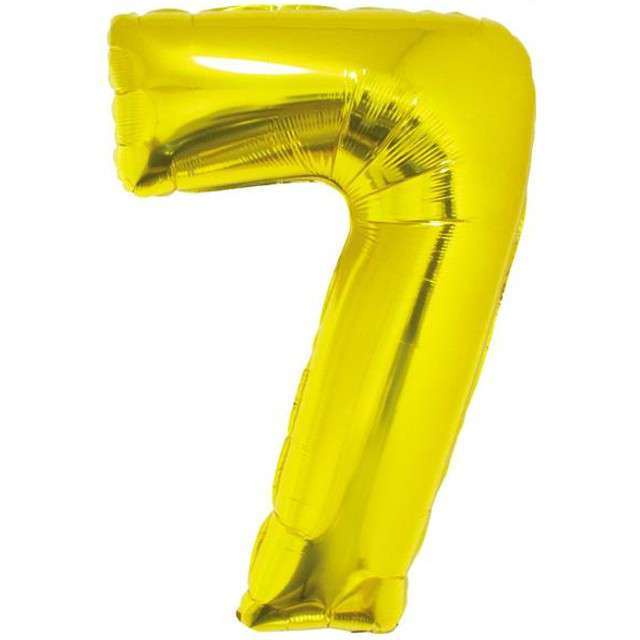 """Balon foliowy cyfra 7, 34"""", GoDan, złota"""