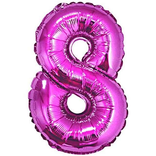 """Balon foliowy cyfra 8, 34"""", GoDan, różowa"""