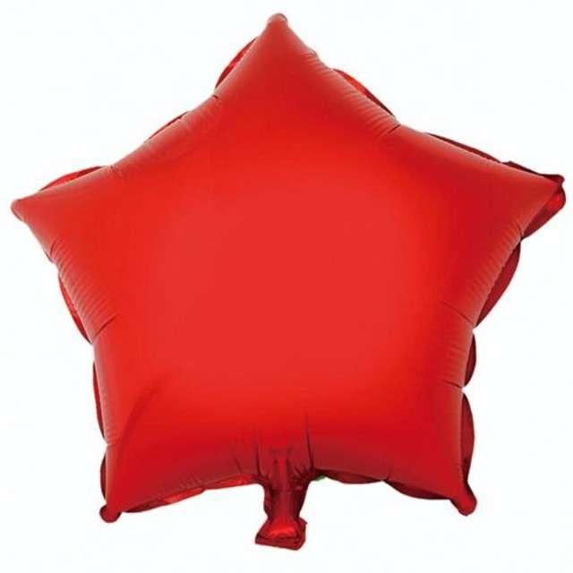 """Balon foliowy """"Gwiazda"""", czerwona, GODAN, 18"""" STR"""