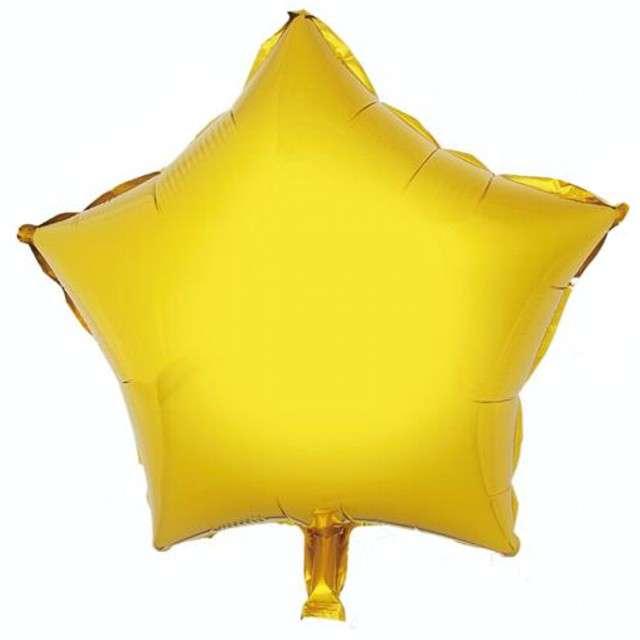 """Balon foliowy """"Gwiazda"""", złota, GODAN, 18"""" STR"""