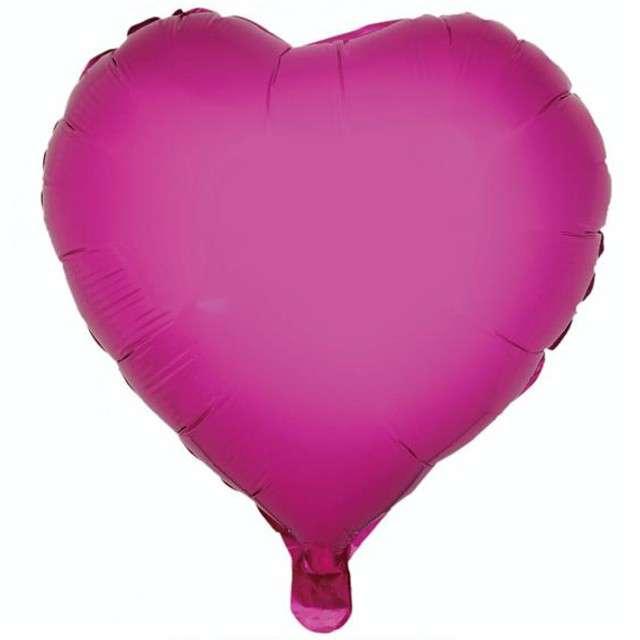 "Balon foliowy ""Serce"", różowe, GODAN, 18"" HRT"