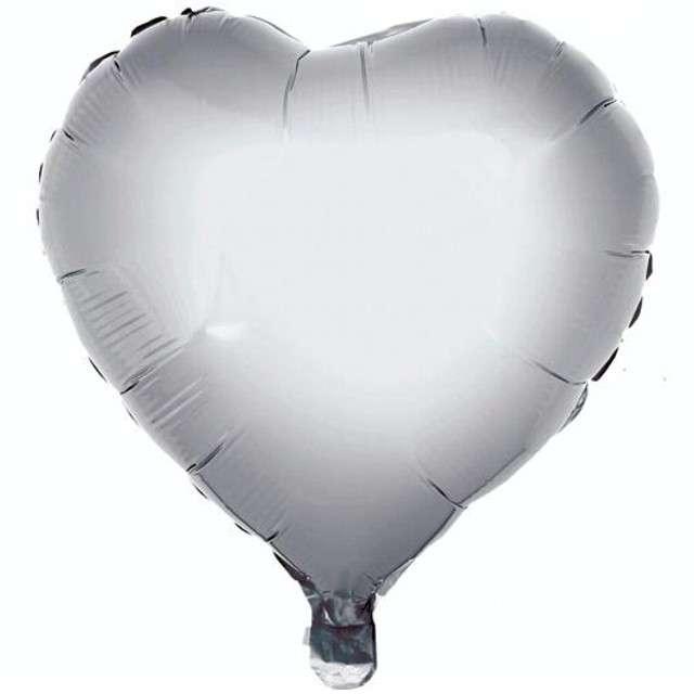 "Balon foliowy ""Serce"", srebrne, GODAN, 18"" HRT"