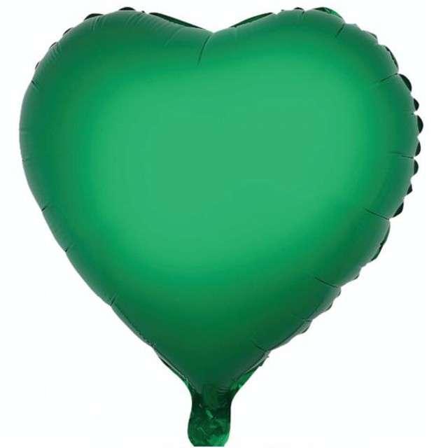 "Balon foliowy ""Serce"", zielone, GODAN, 18"" HRT"