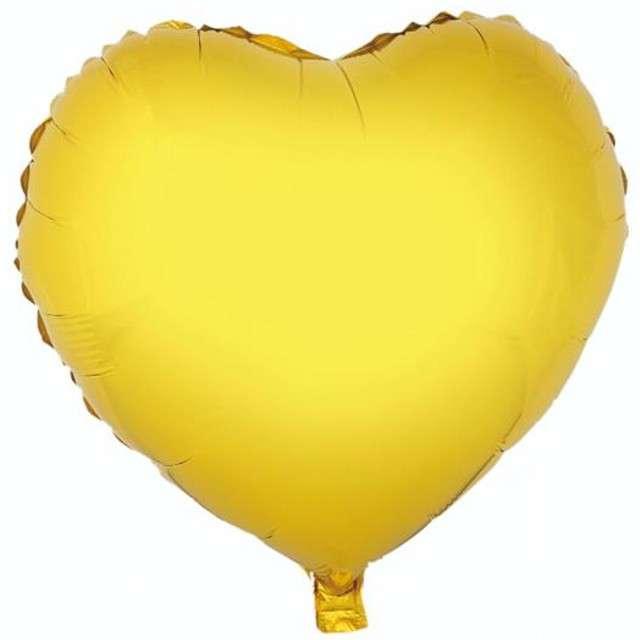 """Balon foliowy """"Serce"""", złote, GODAN, 18"""" HRT"""