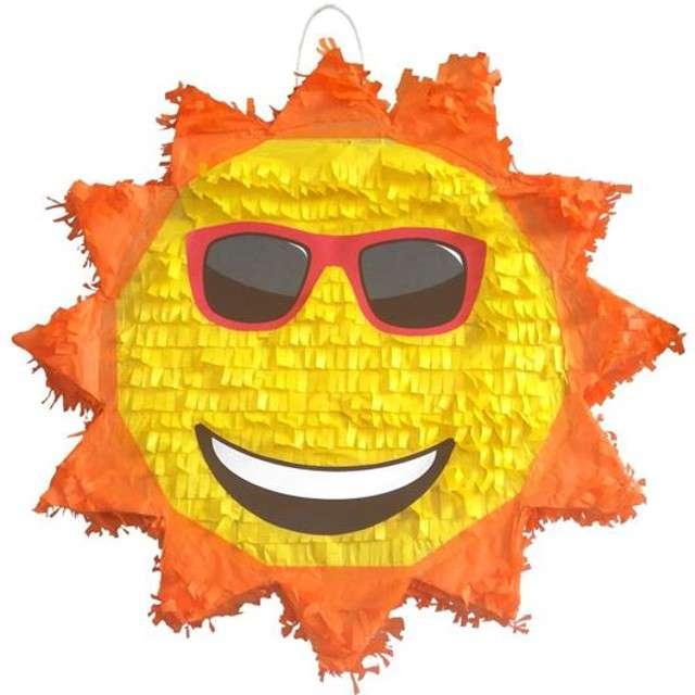 """Piniata """"Słoneczko w okularach"""", rozm. 40x40x9cm"""