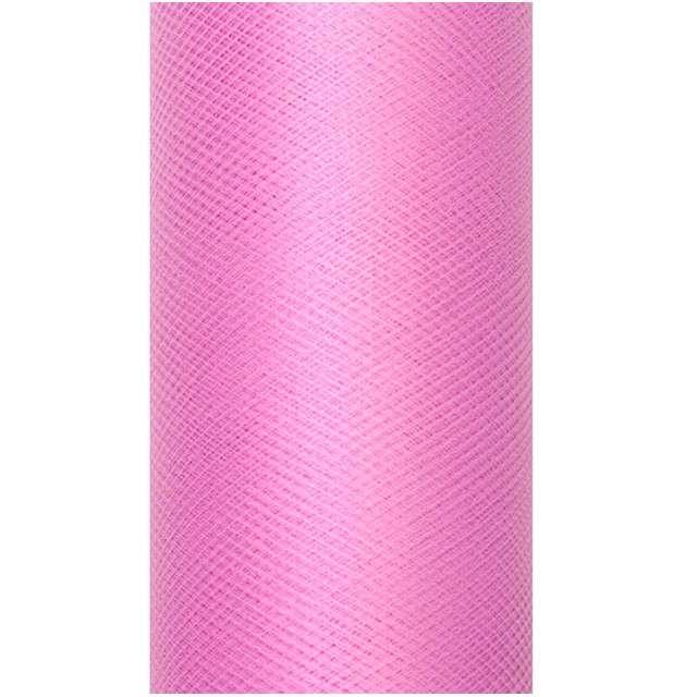 Tiul gładki, różowy głęboki, 0,15 x 9 m