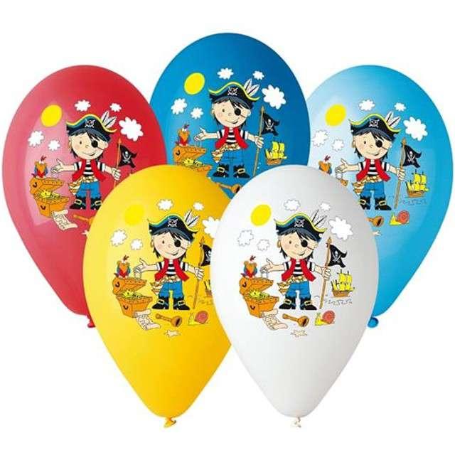 """Balony 12"""", """"Pirat"""", 5 szt"""