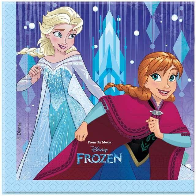"""Serwetki """"Frozen Elsa - Kraina Lodu"""", 33 cm, PROCOS, 20 szt"""