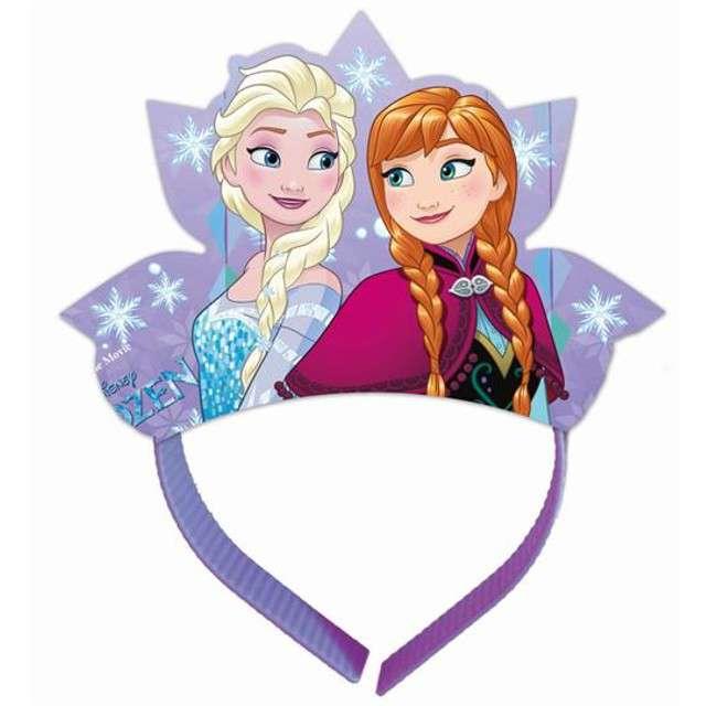 """Opaska party """"Frozen Snowflakes Elsa"""", PROCOS, 4 szt"""