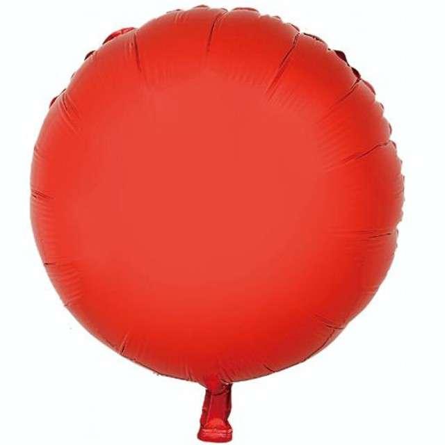 """Balon foliowy """"Okrągły"""", czerwony, GODAN, 18"""" RND"""