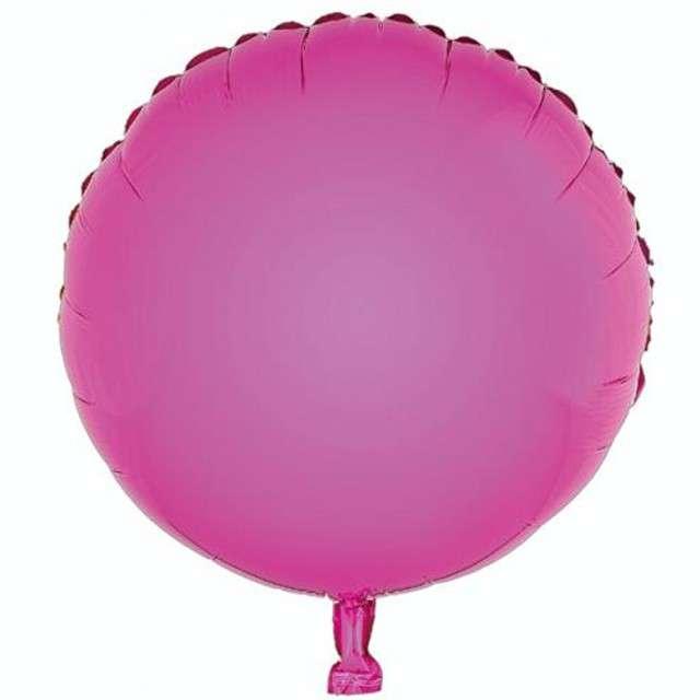 """Balon foliowy """"Okrągły"""", różowy, GODAN, 18"""" RND"""