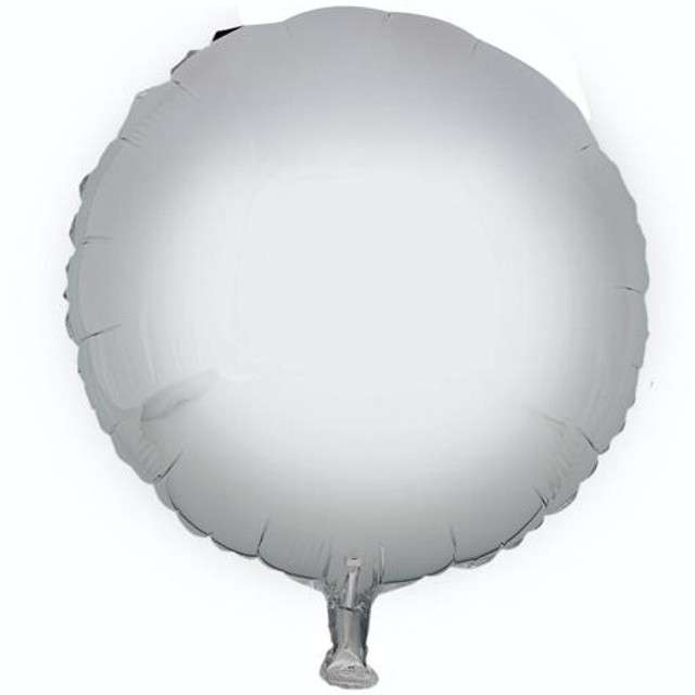 """Balon foliowy """"Okrągły"""", srebrny, GODAN, 18"""" RND"""