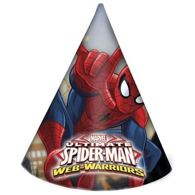 """Czapeczki papierowe """"Spiderman Ultimate"""", PROCOS, 6 szt"""