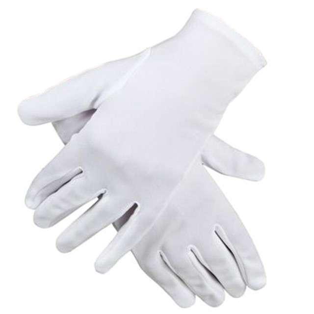 """Rękawiczki """"Święty Mikołaj, krótkie"""", białe, Boland, 24cm"""