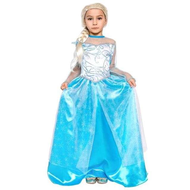"""Strój dla dzieci """"Elsa Frozen - Kraina Lodu"""", rozm. 130/140 cm"""