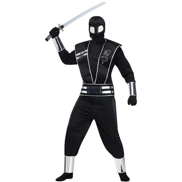 """Strój dla dorosłych """"Lustrzany Ninja"""", rozm. un."""