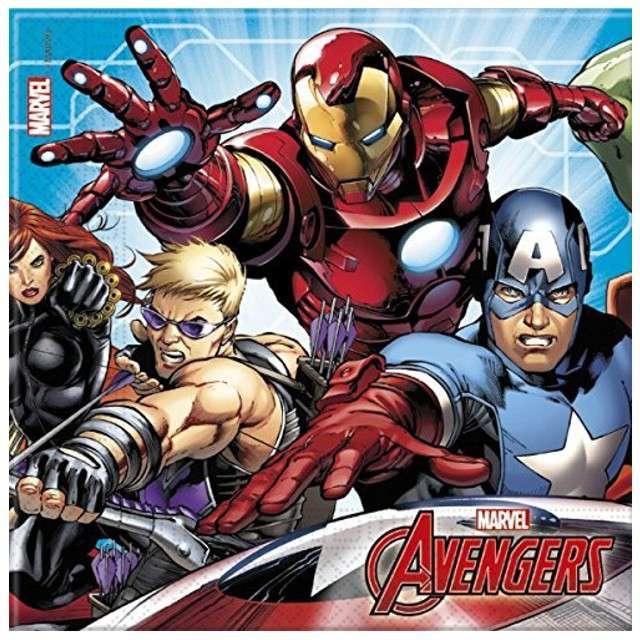 """Serwetki """"Mighty Avengers"""", rozm. 33 x 33 cm, 20 szt"""