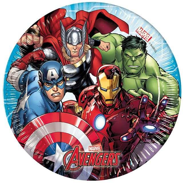 """Talerzyki papierowe """"Mighty Avengers"""", PROCOS, 20 cm, 8 szt"""