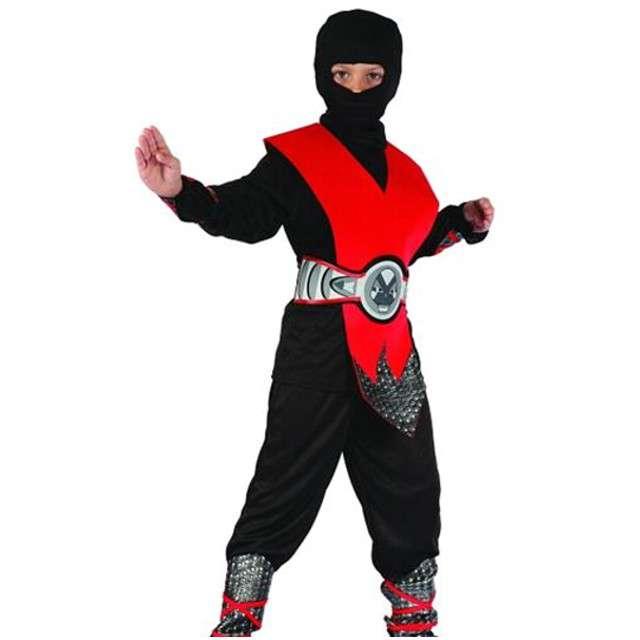 """Strój dla dzieci """"Czerwony ninja lux"""", rozm. 120/130"""