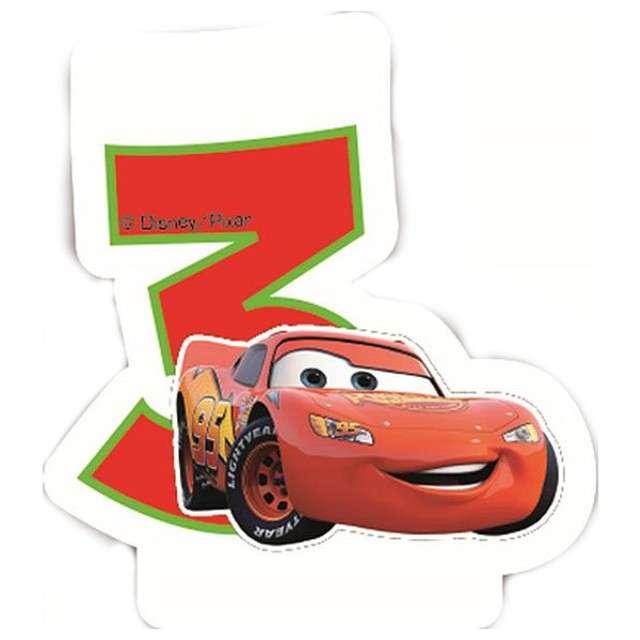 """Świeczka na tort """"CARS Neon Cyfra 3"""", PROCOS, 6 cm"""