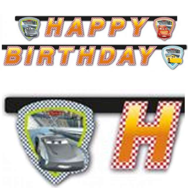 "Baner ""Cars 3 - Happy Birthday"", PROCOS, 200 cm"