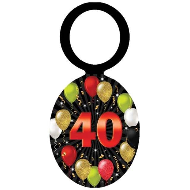 """Zawieszki na alkohol """"Urodziny 40 Black Balloons"""", 20 szt"""