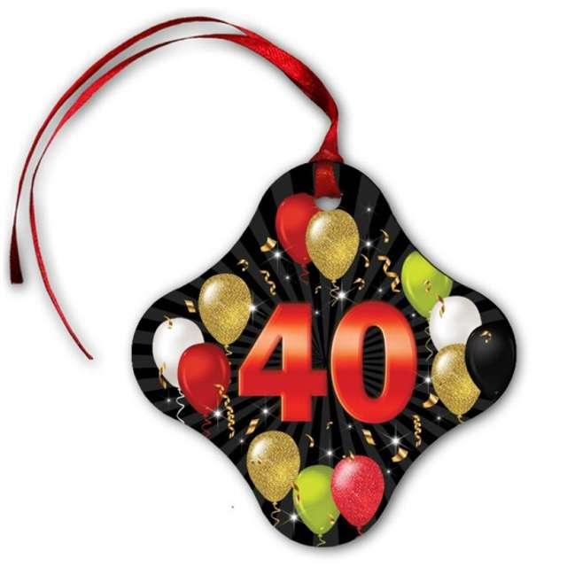 """Zawieszki na alkohol """"40 urodziny Black Balloons"""", 20 szt"""