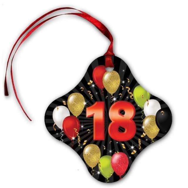 """Zawieszki na alkohol """"18 urodziny Black Balloons"""", 20 szt"""