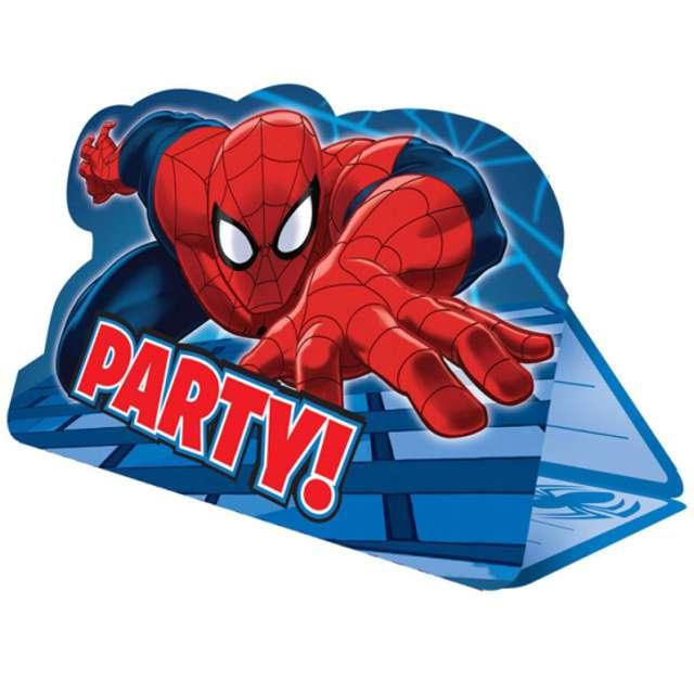 """Zaproszenia urodzinowe """"Spider-Man Party"""", AMSCAN, 8 szt"""