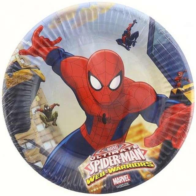 """Talerzyki papierowe """"Ultimate Spiderman"""", PROCOS, 20 cm, 8 szt"""