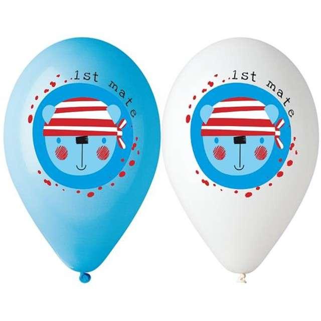 """Balony 12"""", """"Ahoj Marynarz"""", GODAN, MIX, 5 szt"""