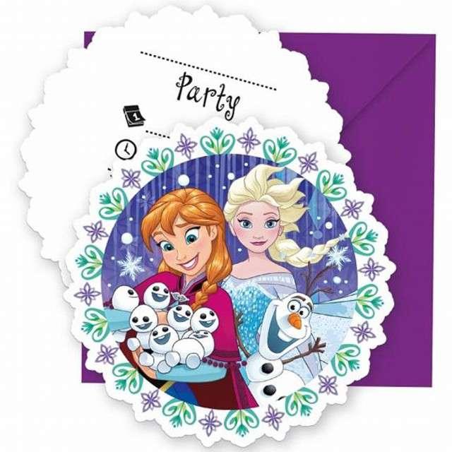 """Zaproszenia urodzinowe """"Frozen Snowflakes - Kraina Lodu"""", PROCOS, 6 szt"""