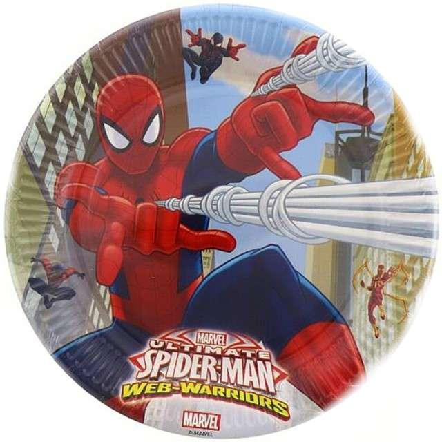 """Talerzyki papierowe """"Ultimate Spiderman"""", PROCOS, 23 cm, 8 szt."""