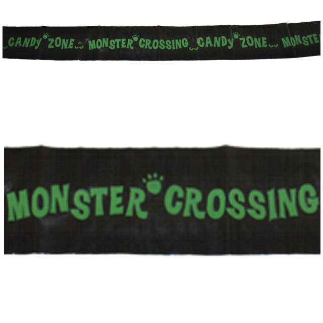 "Baner taśma ""Monster Crossing"", czarna, Funny Fashion, 610 cm"