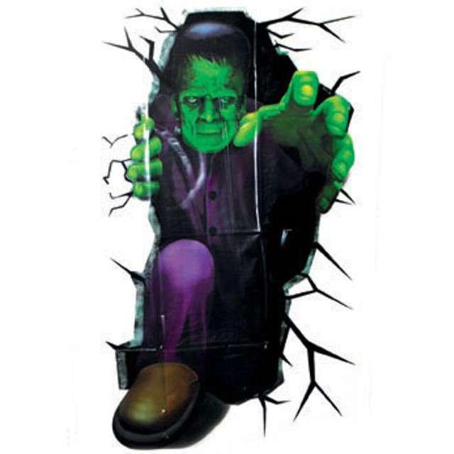 """Dekoracja foliowa """"Frankenstein w ścianie"""", 100 cm"""