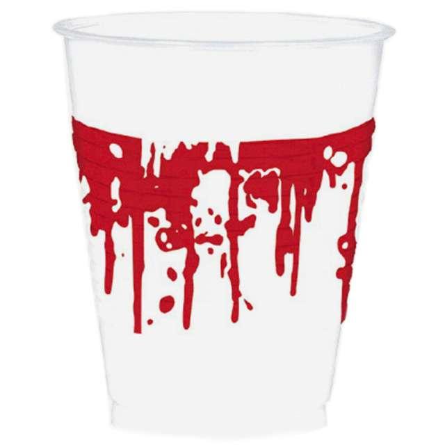 """Kubeczki plastikowe """"Krwawe zacieki"""", 473 ml, 10 szt"""