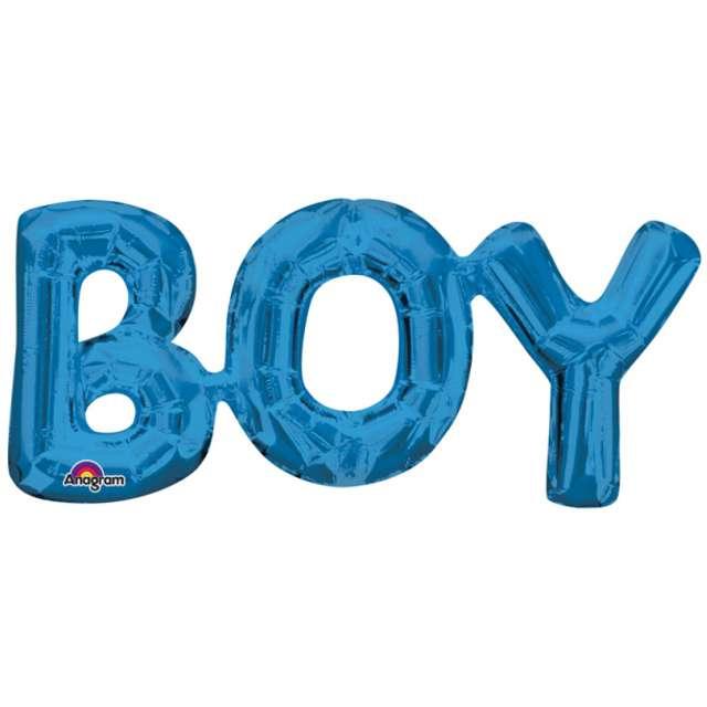 """Balon foliowy """"BOY"""", niebieski, AMSCAN, 20"""" SHP"""