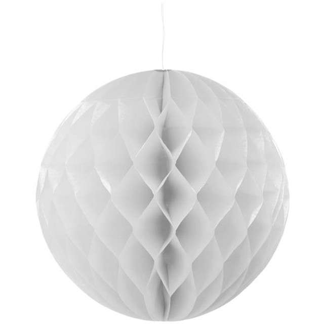 Kula bibułowa, srebrna, 30 cm