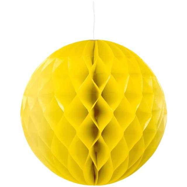 Kula bibułowa, złota, 30 cm