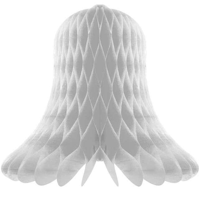 """Dekoracja """"Honeycomb Dzwonek"""", srebrna, Godan, 20 cm"""