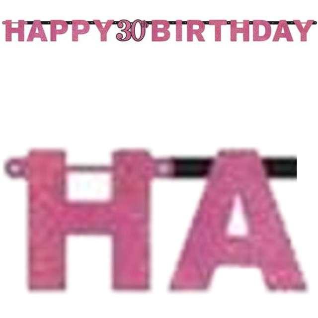 "Baner ""30 Urodziny - Sparkling Celebrations Pink"", AMSCAN, 213 cm"