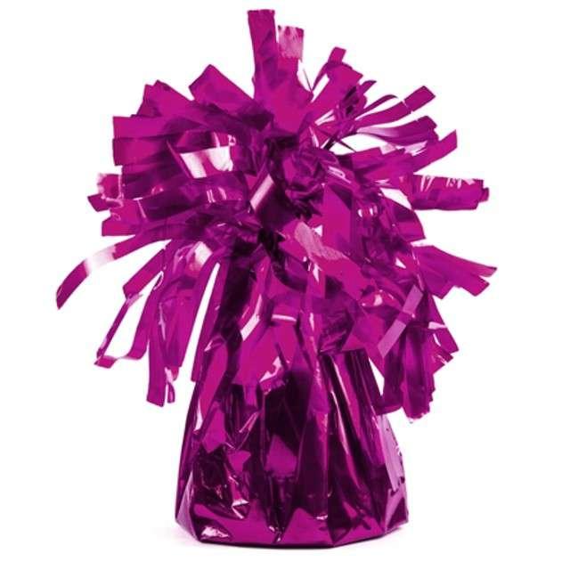 Obciążnik do balonów, foliowy, różowy, PartyDeco, 4 szt