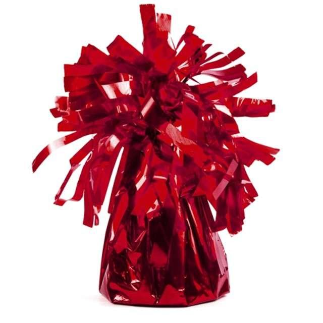 Obciążnik do balonów, foliowy, czerwony, PartyDeco, 4 szt