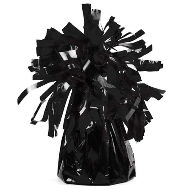 Obciążnik do balonów, foliowy, czarny, PartyDeco, 4 szt