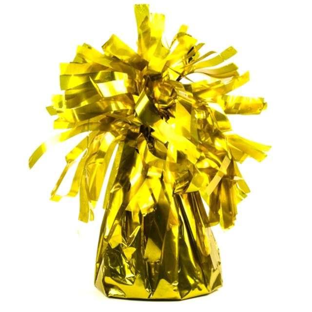 Obciążnik do balonów, foliowy, złoty, PartyDeco, 4 szt