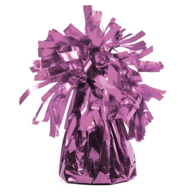 Obciążnik do balonów, foliowy, różowy jasny, PartyDeco, 4 szt